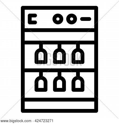 Repair Dishwasher Button Icon. Outline Repair Dishwasher Button Vector Icon For Web Design Isolated
