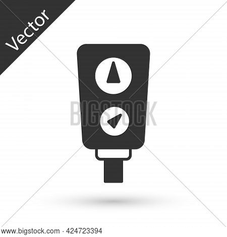 Grey Gauge Scale Icon Isolated On White Background. Satisfaction, Temperature, Manometer, Risk, Rati