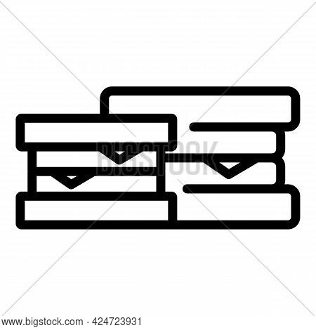 Take Away Sandwich Icon. Outline Take Away Sandwich Vector Icon For Web Design Isolated On White Bac