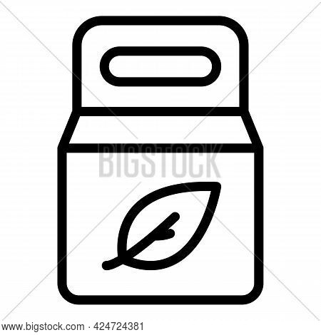 Take Away Healthy Food Icon. Outline Take Away Healthy Food Vector Icon For Web Design Isolated On W