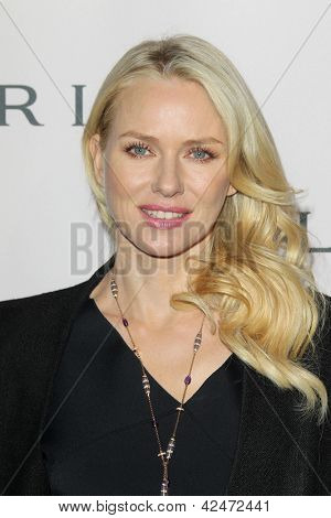 LOS ANGELES - FEB 19:  Naomi Watts arrives at the BVLGARI Celebrates Elizabeth Taylor's Jewelry Collection at the BVLGARI on February 19, 2013 in Beverly Hills, CA