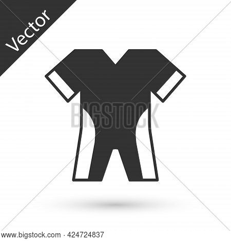 Grey Wetsuit For Scuba Diving Icon Isolated On White Background. Diving Underwater Equipment. Vector