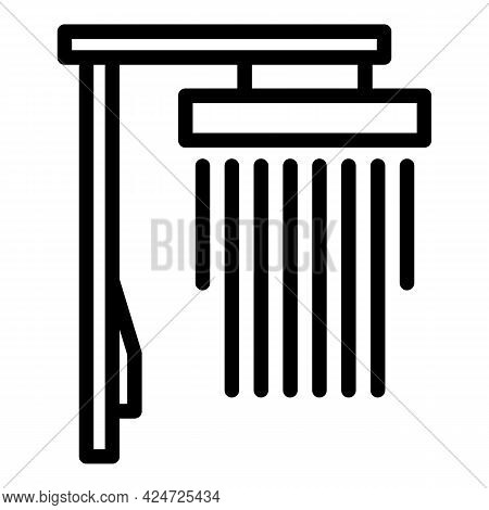 Shower Head Spa Icon. Outline Shower Head Spa Vector Icon For Web Design Isolated On White Backgroun