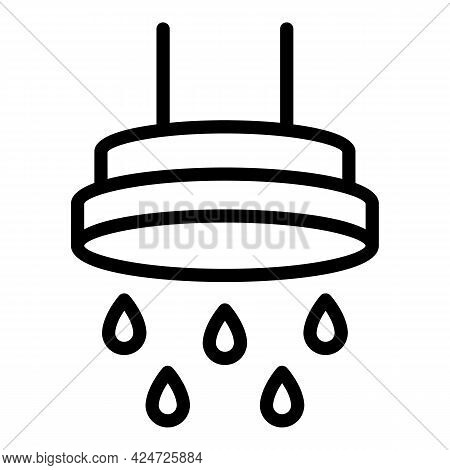 Shower Head Stream Icon. Outline Shower Head Stream Vector Icon For Web Design Isolated On White Bac