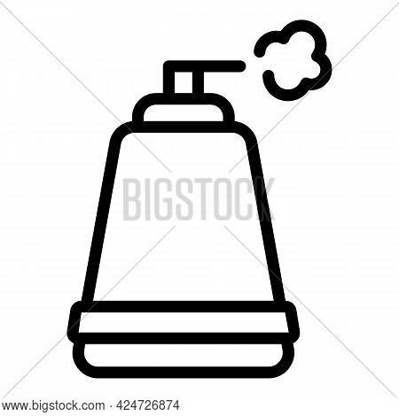 Home Aerosol Bottle Icon. Outline Home Aerosol Bottle Vector Icon For Web Design Isolated On White B
