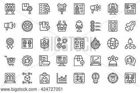 Featured Product Icons Set. Outline Set Of Featured Product Vector Icons For Web Design Isolated On