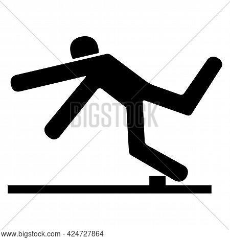 Beware Trip Hazard Symbol Isolate On White Background