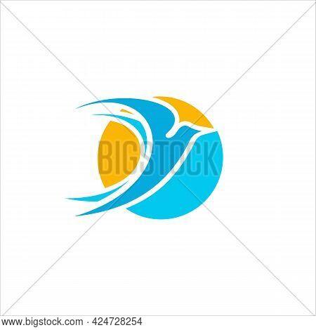 Falcon Bird Logo Desain Abstrak Vektor Template. Flying Eagle Logotype Ikon Konsep.