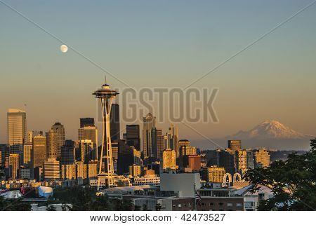Seattle Skyline at sunset