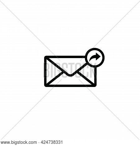 Forward Mail Message Line Icon. Linear Style Sign For Mobile Concept And Web Design. Send Email Outl