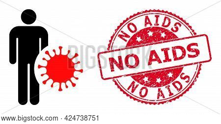 Infected Man Icon On A White Background. Isolated Infected Man Symbol With Flat Style.