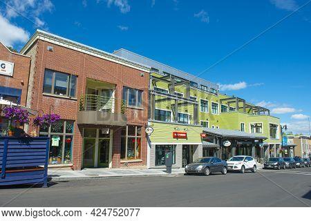 Park City, Ut, Usa - Jun. 20, 2018:  Historic Commercial Building At 323 Main Street Near 4th Street