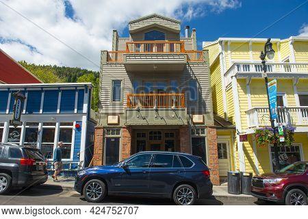 Park City, Ut, Usa - Jun. 20, 2018: Historic Commercial Building At 531 Main Street In Historic Down