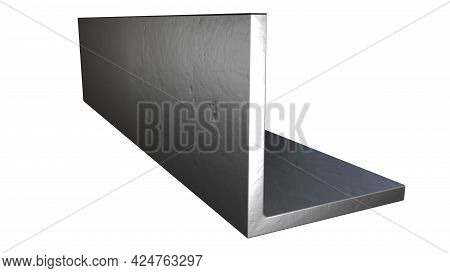 L-bar Metal Profile - Isolated Industrial 3d Illustration