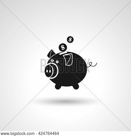 Piggy Bank Sign. Piggy Bank Isolated Simple Vector Icon
