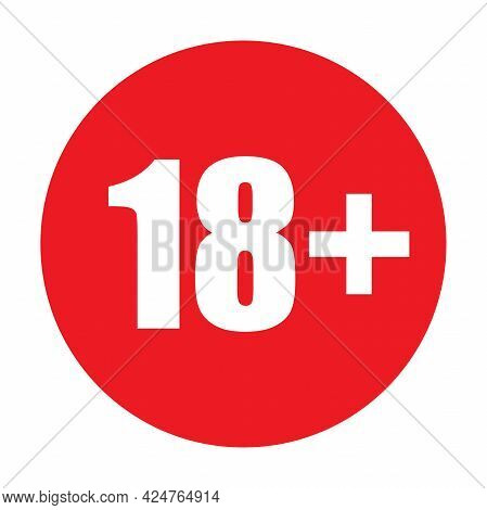 18 Plus Icon Vector Under Eighteen Years Prohibition Sign, Adults Only For Your Web Design, Logo, In