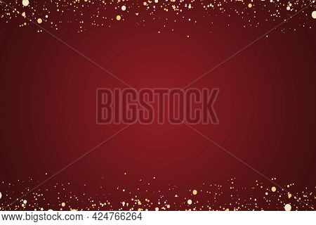 Red plain background with gold glittery