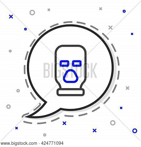Line Balaclava Icon Isolated On White Background. A Piece Of Clothing For Winter Sports Or A Mask Fo
