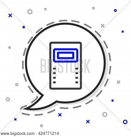 Line Police Assault Shield Icon Isolated On White Background. Colorful Outline Concept. Vector