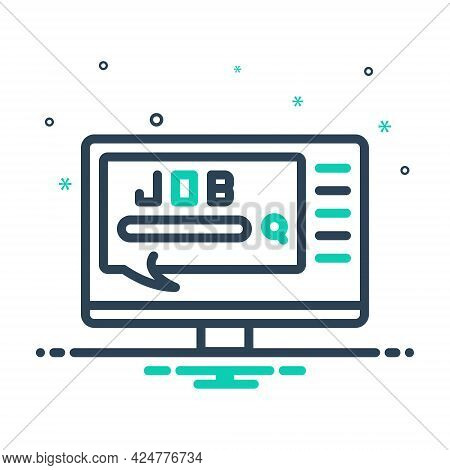 Mix Icon For Job Task Work Duty Responsibility Doing Occupation