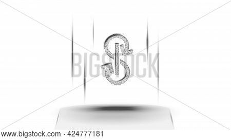 Yearn.finance Yfi Token Symbol Of The Defi System Above The Pedestal On White Background. Cryptocurr