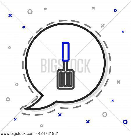 Line Barbecue Spatula Icon Isolated On White Background. Kitchen Spatula Icon. Bbq Spatula Sign. Bar