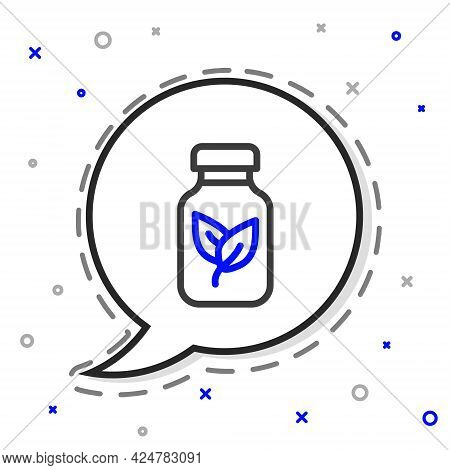 Line Fertilizer Bottle Icon Isolated On White Background. Colorful Outline Concept. Vector