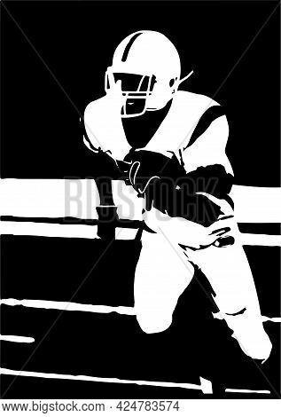 American Football Vector Illustration On Background , Softball, Sport, Sports