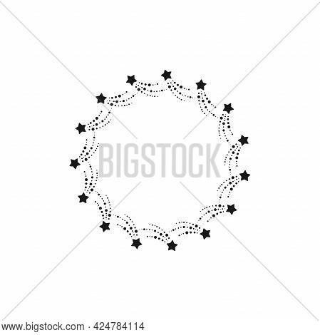 Light Rays Frame Made With Fireworks Stars. Shine Burst Background. Radiant Spark, Fireworks. Vector