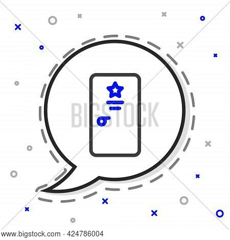 Line Backstage Icon Isolated On White Background. Door With A Star Sign. Dressing Up For Celebrities