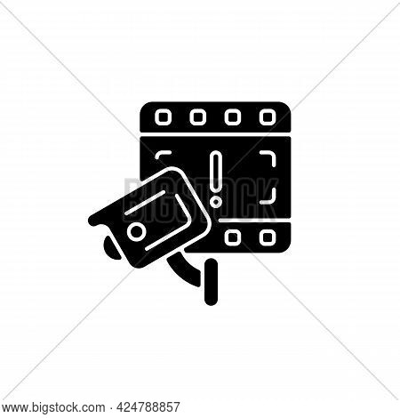 Cctv Camera Boon To Investigation Black Glyph Icon. Detecting Offences. Increasing Crimes Solving Ch