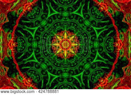 Bright Abstract Background With Pattern From Tangled Threads