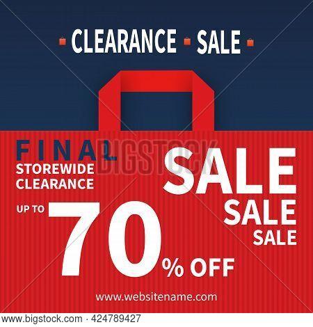 Clearance Sale Social Media Post Template Design