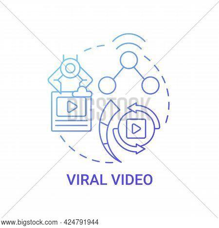Viral Video Concept Icon. Top Viral Post Abstract Idea Thin Line Illustration. Social Media Platform