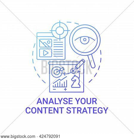Analyse Content Strategy Concept Icon. Viral Content Technique Abstract Idea Thin Line Illustration.
