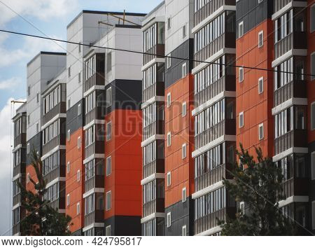 Apartment Building. Contemporary Architecture. Multistory Building. Apartment Building.