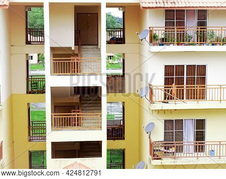 Labuan,malaysia-april 20,2020:view Of Residential Apartment Pictured At Labuan Ft,malaysia. The Pric