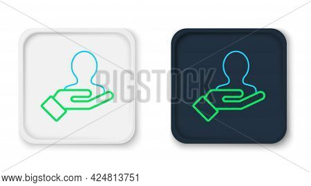 Line Hand For Search A People Icon Isolated On White Background. Recruitment Or Selection Concept. S