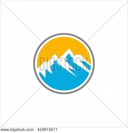 Mountain Adventure Logo Template.vector Illustratior.mountains Emblem Logo.