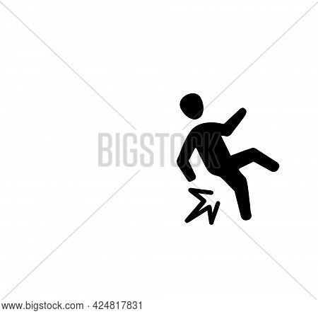 Illustration Of A Simple Men Slip Icon On White Background With Copy And Text Space.