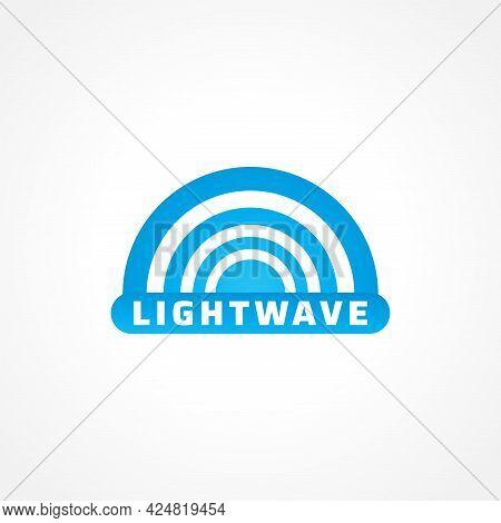 Light Wave Logo Design Concept For Lighting Professional Company, Laser Art Show, Multimedia Event,
