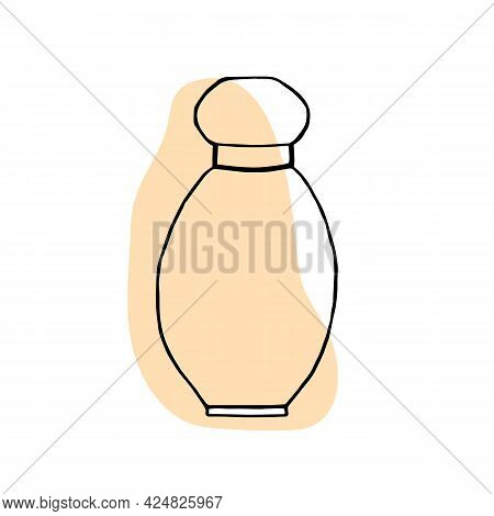 Perfume Bottle Vector .vector Hand Drawn Perfume Outline Doodle Icon. Perfume Sketch Illustration Fo