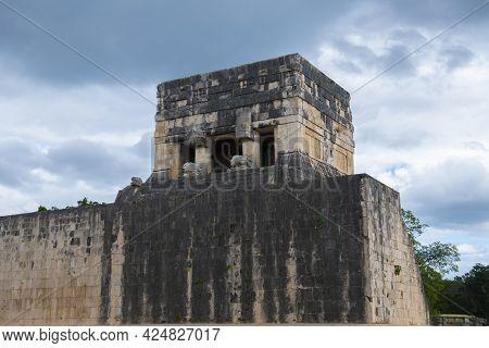 Juego De Pelota Ball Court At Chichen Itza Archaeological Site In Yucatan, Mexico. Chichen Itza Is A