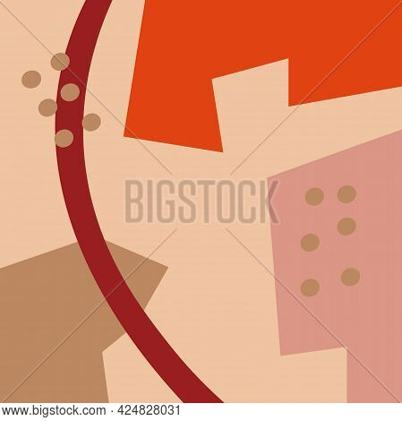 Abstract Fun Background. Colour Shapes Pattern. Splash Fun Backdrop. Vector Illustration