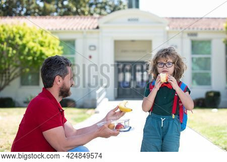 Healthy School Breakfast For Child. Food For Lunch, Lunchboxes.