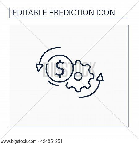 Price Optimization Line Icon. Perfect Buying Cost. Price Reduction. Best Buying Conditions. Money Si