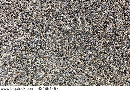 Exposed Aggregate Concrete Background Showing Beauty Of Stones