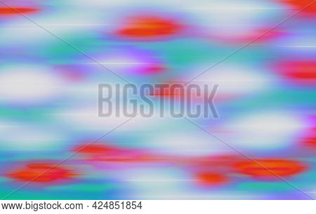 Red Purple Turquoise Green Background With Blur And Gradient. Space For Graphic Design And Creative
