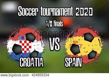Soccer Game Croatia Vs Spain