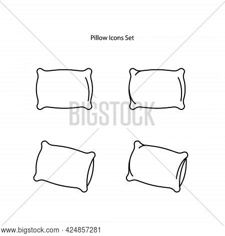 Pillow Icons Set Isolated On White Background. Pillow Icon Thin Line Outline Linear Pillow Symbol Fo